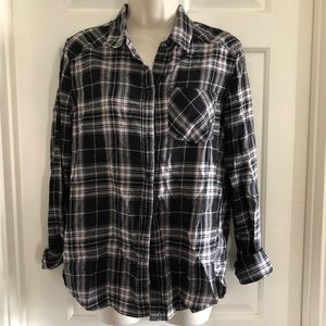 PAIGE flannel long sleeve button down shirt